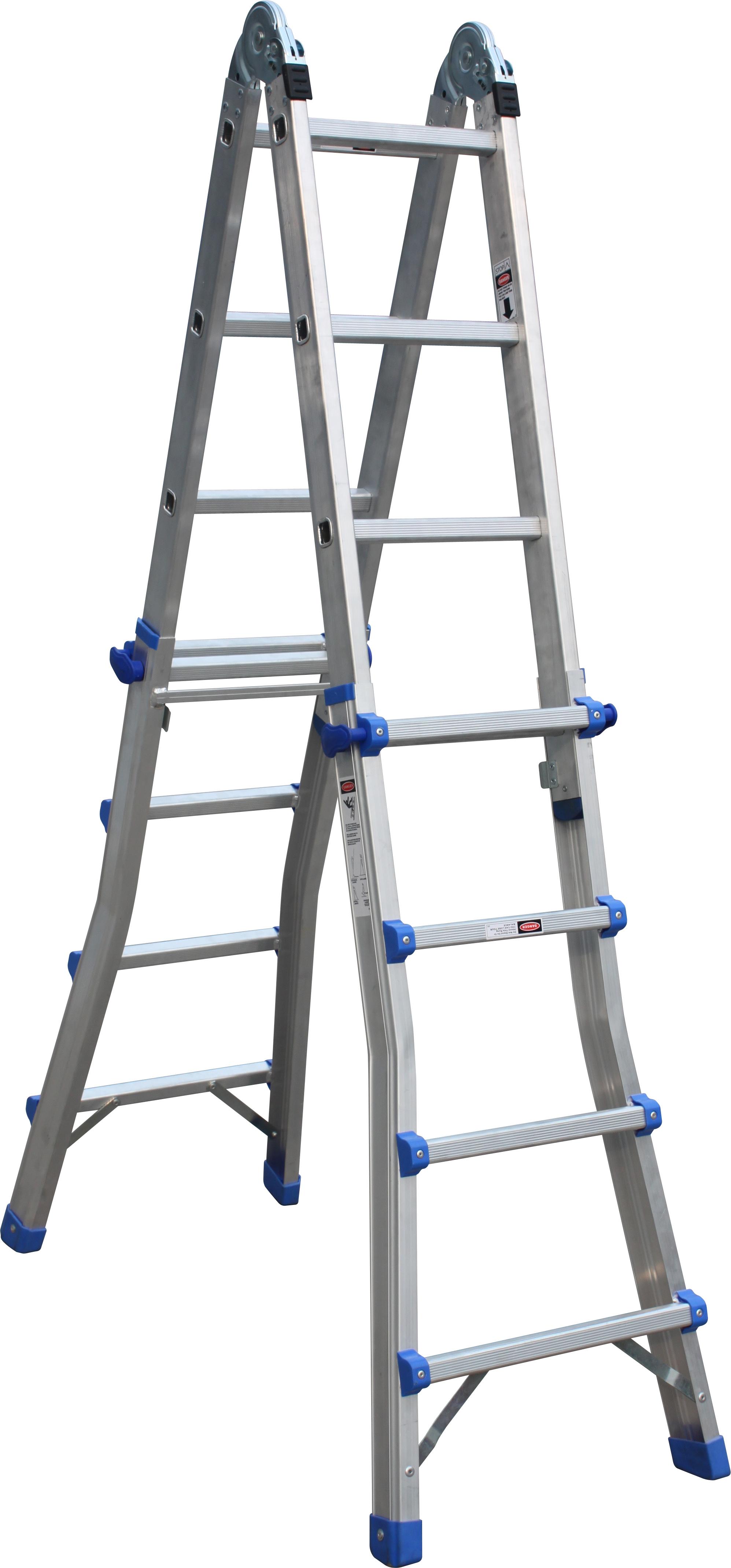 Telescoping Step Ladder : Telescopic multi combination step ladder system